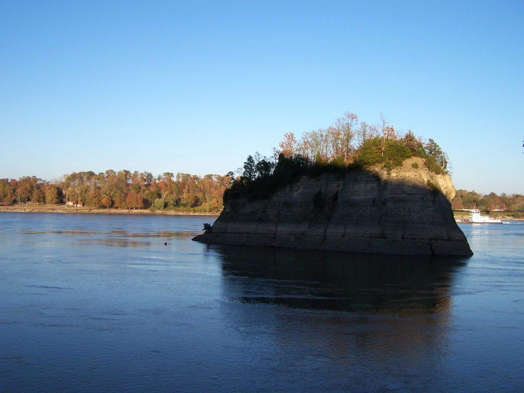 Felsen im Mississippi