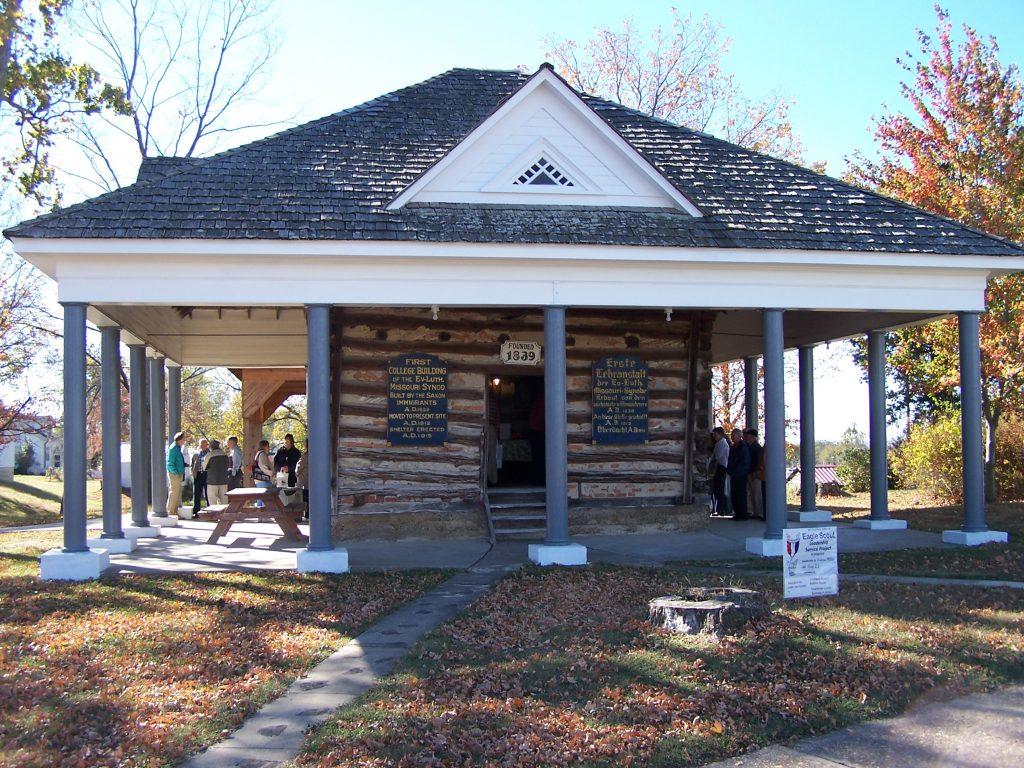 Schulgebäude von 1839 in Altenburg Missouri