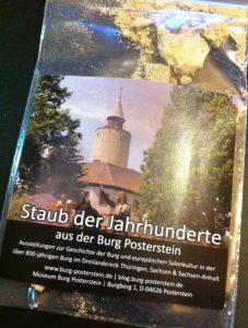 """Auf der ITB gab es """"Staub der Jahrhunderte"""" aus der Burg Posterstein in der Tüte."""