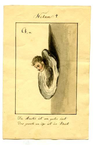 So zeichnete Ernst Welker sich selbst (Sammlung Museum Burg Posterstein).