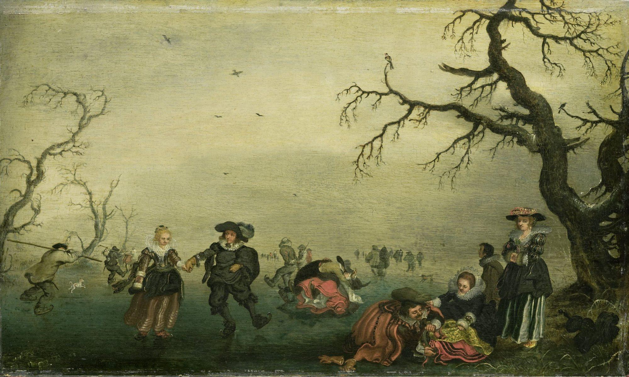 Schaatsenrijders, Adriaen Pietersz. van de Venne, 1625, Rijksmuseum, Public Domain: https://www.rijksmuseum.nl/nl/collectie/SK-A-1768