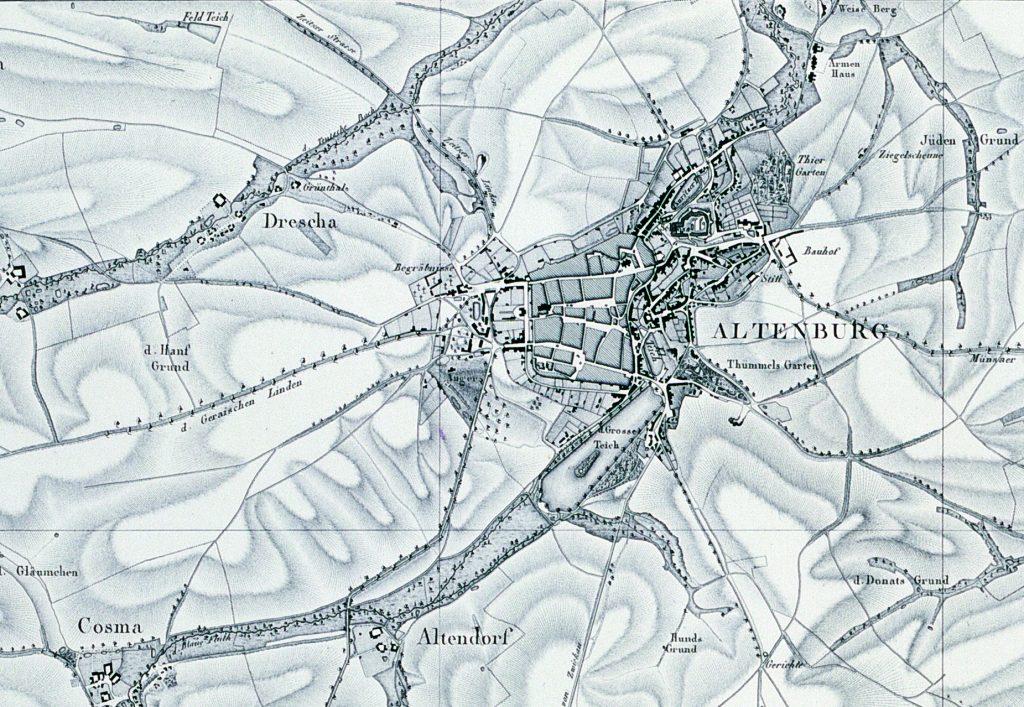 Altenburg - das umfangreiche Kartenwerk gab Hans Wilhelm von Thümmel in Auftrag