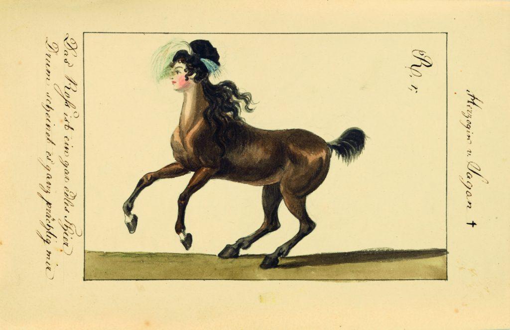 Als schönes, wildes Pferd stellte Ernst Welker Wilhelmine von Sagan, die älteste Tochter der Herzogin von Kurland dar.