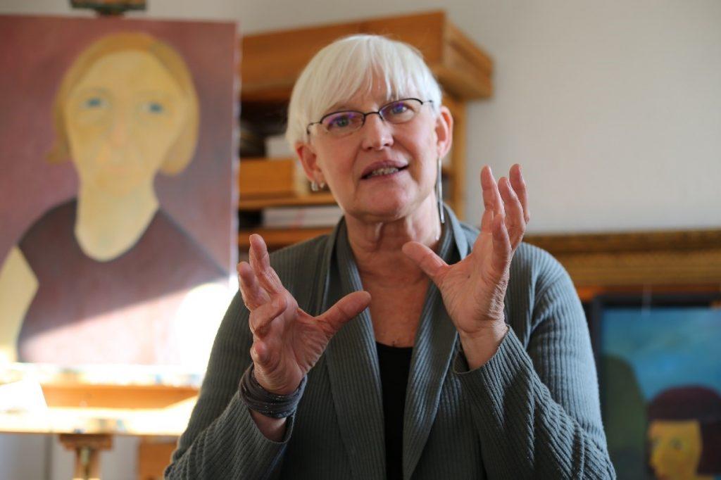 Petra Herrmann ist freischaffende Künstlerin in Thüringen.