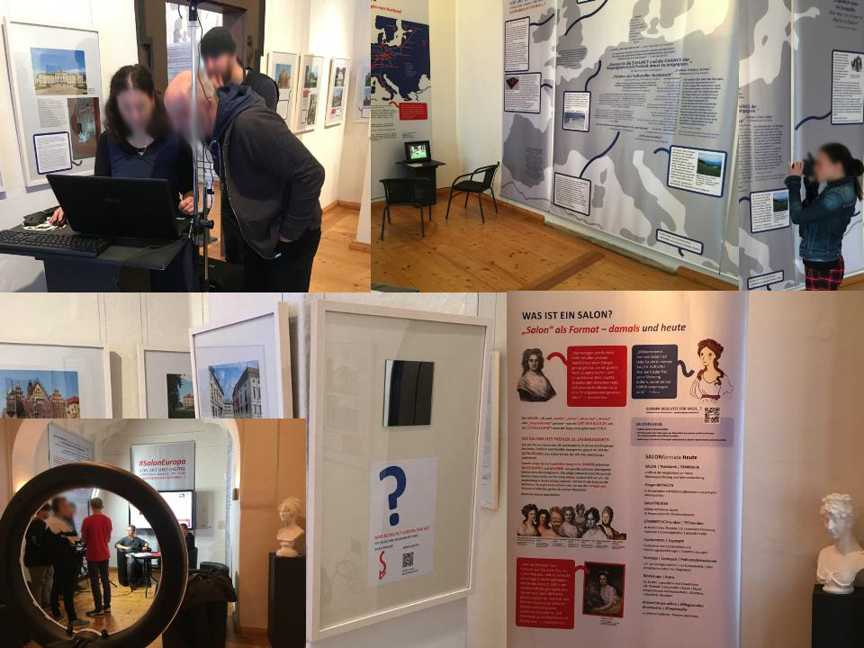 #SalonEuropa - die Ausstellung stellte den Besucher in den Mittelpunkt