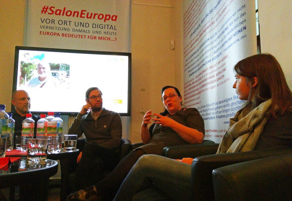 Das Gespräch drehte sich um Europas Grenzen und Region, um Ost und West und um Identität.