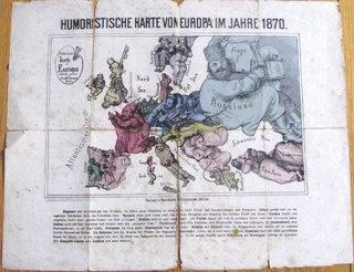 Humoristische Karte von Europa im Jahre 1870 - https://www.europeana.eu/portal/record/2058618/object_KUAS_22286976.html. Kulturarvsstyrelsen - https://www.kulturarv.dk/mussam/VisGenstand.action?genstandId=7205047. CC BY - http://creativecommons.org/licenses/by/4.0/