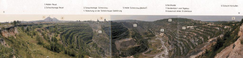 Tagebau Lichtenberg bei Ronneburg, Fotomontage ©Wismut GmbH, 1991