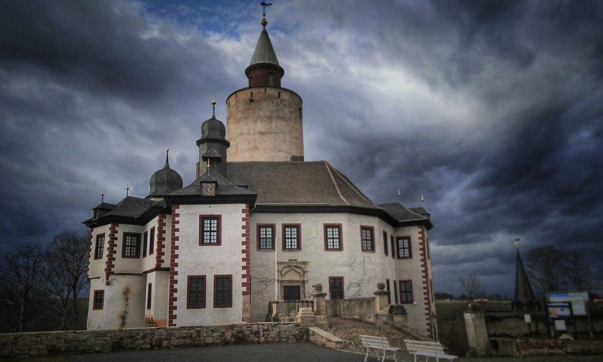 Blick auf das Museum Burg Posterstein im Frühjahr 2020