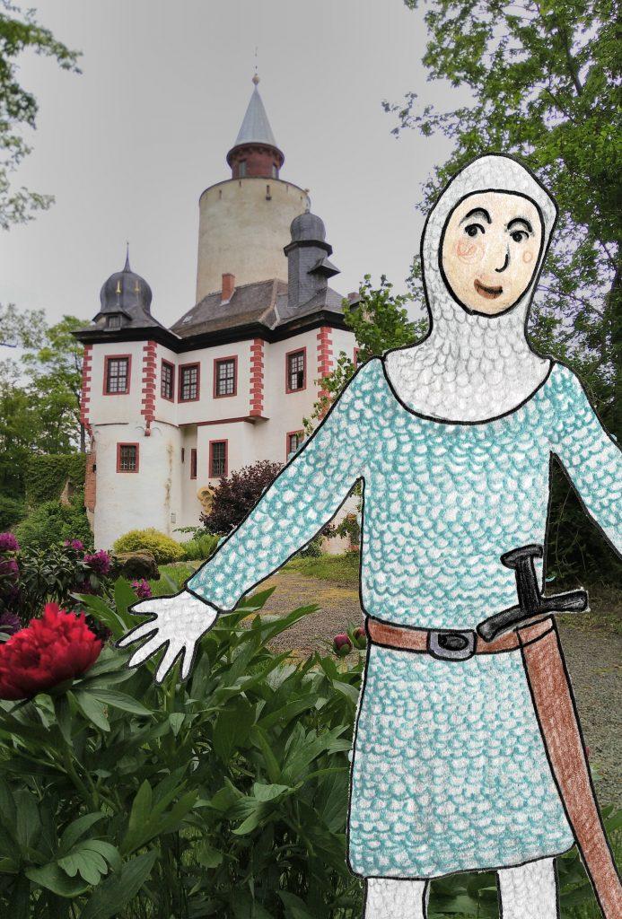 Ritter vor der Burg Posterstein in Thüringen