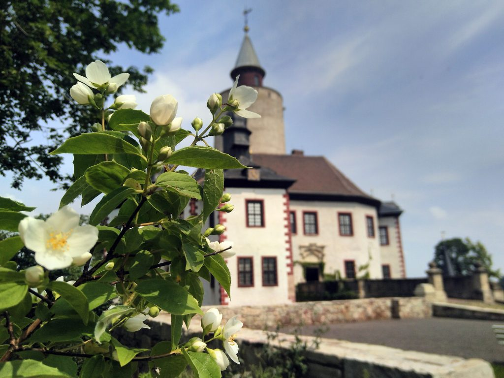 Blick auf Burg Posterstein