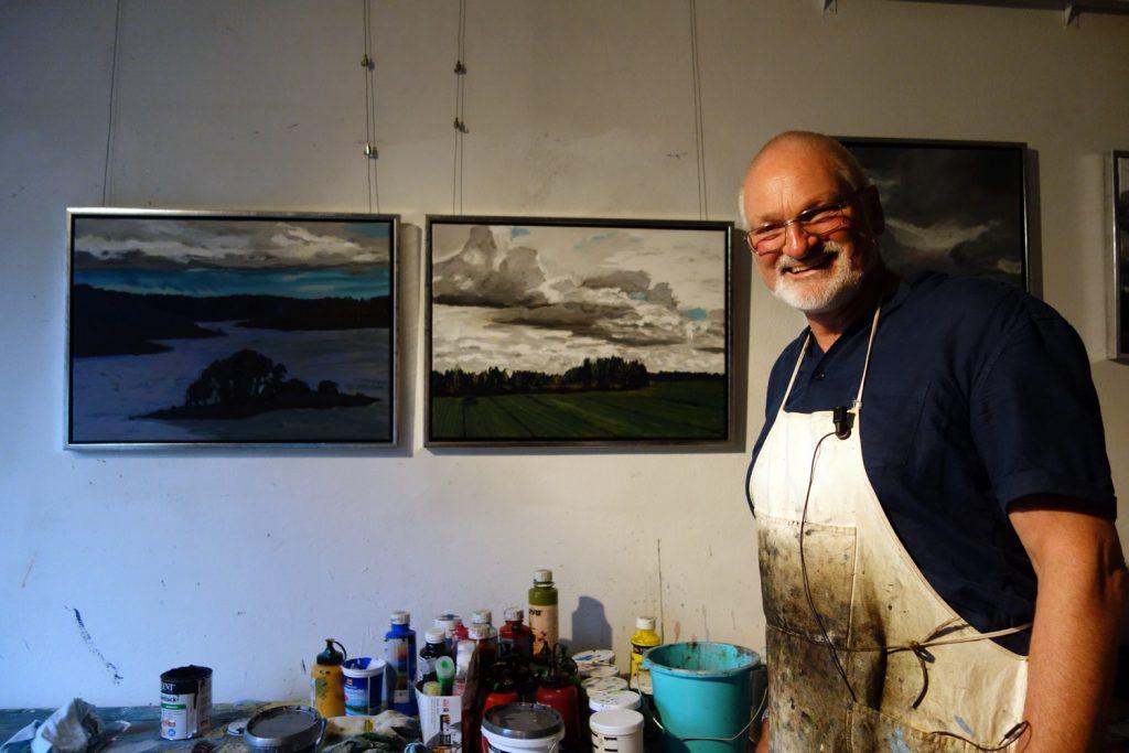 Peter Zaumseil in seinem Atelier in Elsterberg im Vogtland.