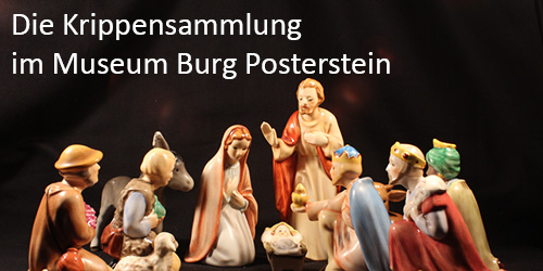 Button mit Link zur Krippensammlung des Museums Burg Posterstein
