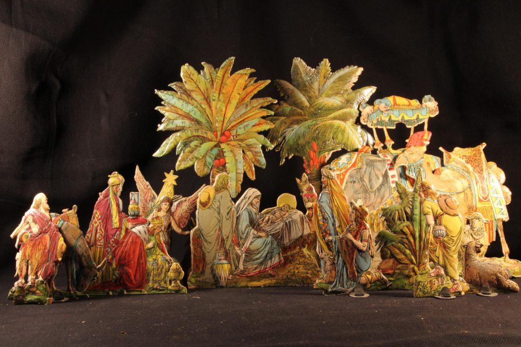 Darstellung von Christi Geburt in einer Krippe (Sammlung Museum Burg Posterstein).