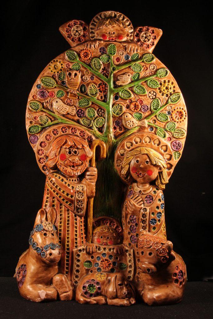 Spanische Keramikkrippe (Sammlung Museum Burg Posterstein, VI 19 K6/Ri)