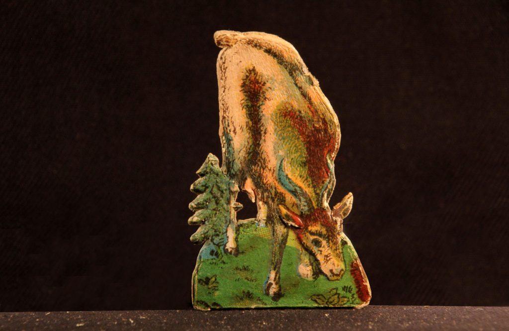 Ziege - Fragment einer Weihnachtskrippe (Sammlung Museum Burg Posterstein, VI 452 K6/Ri/FH)
