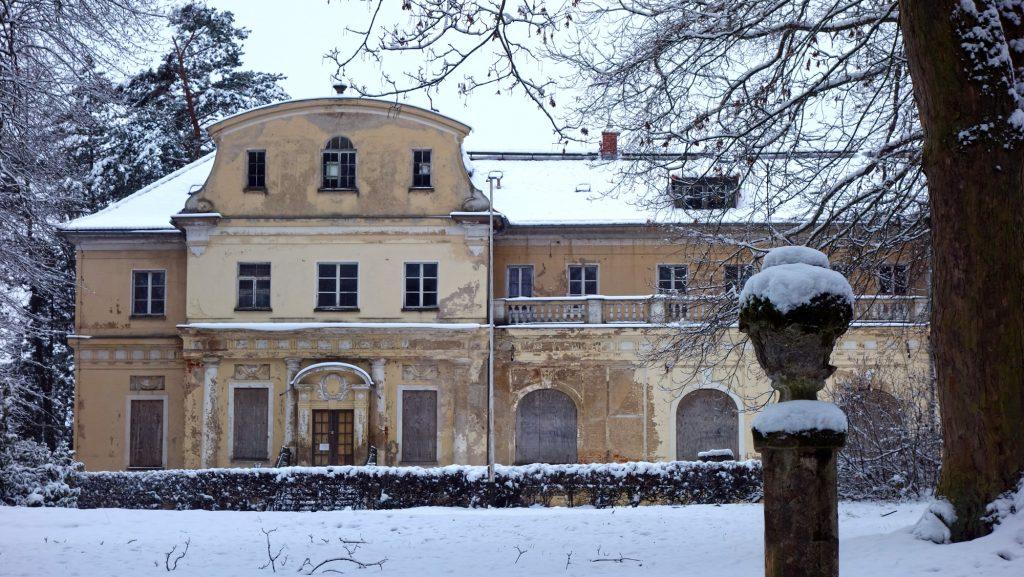Schloss Tannenfeld im Winter 2021 (Foto: Museum Burg Posterstein)