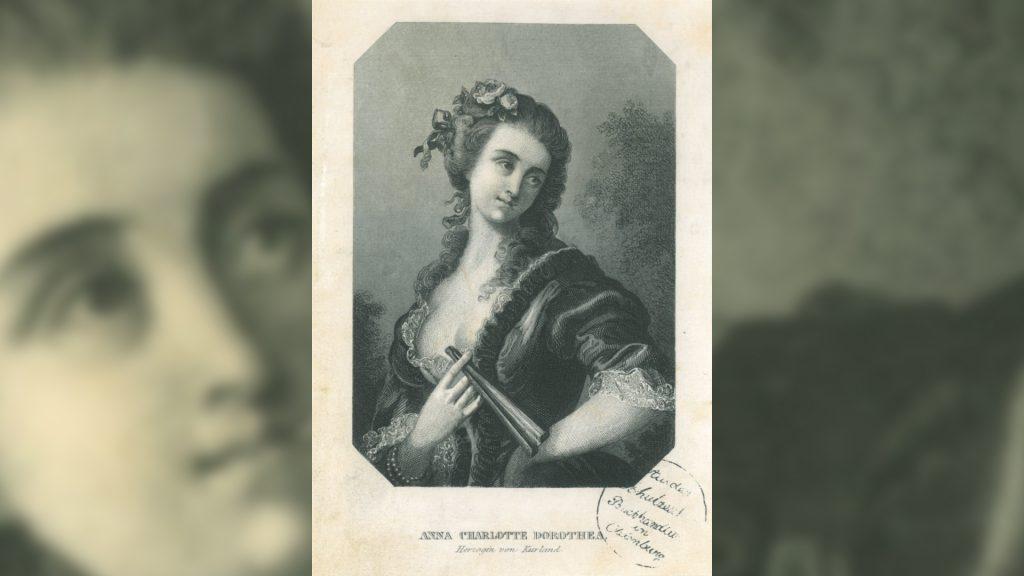 Durch die Herzogin Anna Dorothea von Kurland avancierte das kleine Löbichau kurzzeitig zu einem Zentrum europäischer Salonkultur.
