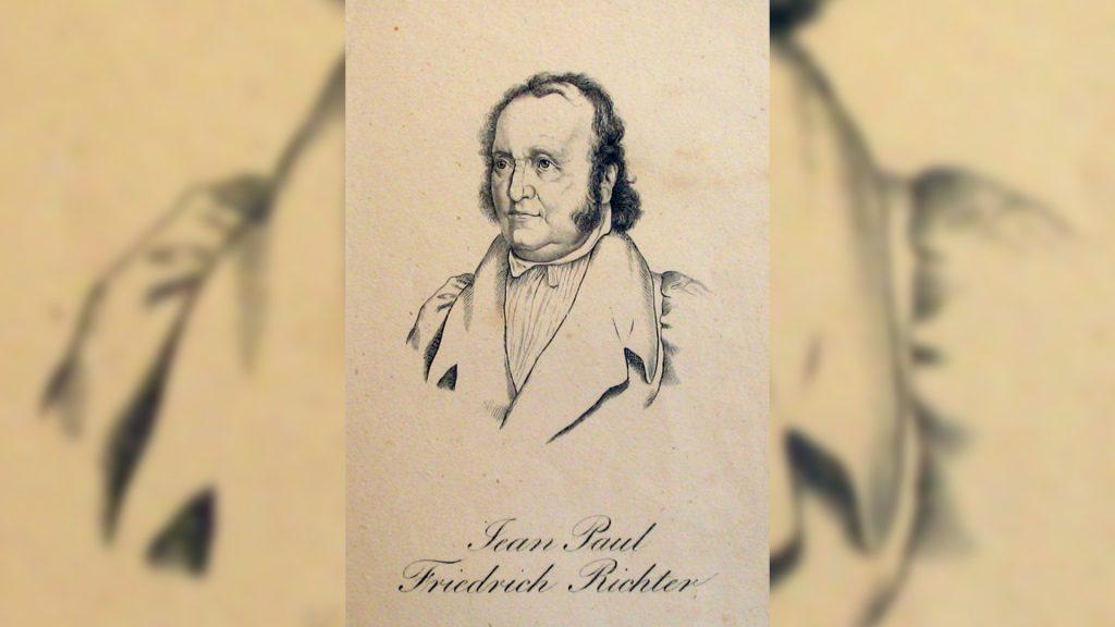 Der Dichter Jean Paul besuchte Löbichau 1819 (Stich, Museum Burg Posterstein).