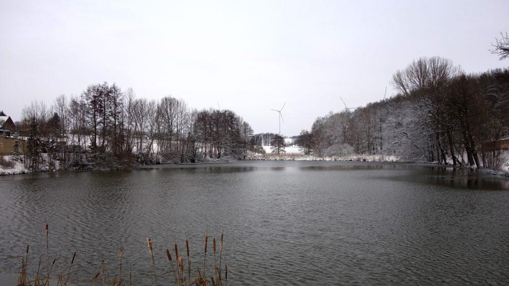 Teich in Untschen im Winter 2021