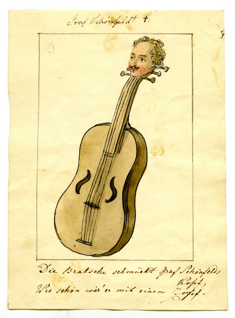 Graf Schönfeld, portraitiert von Ernst Welker (Sammlung Museum Burg Posterstein)