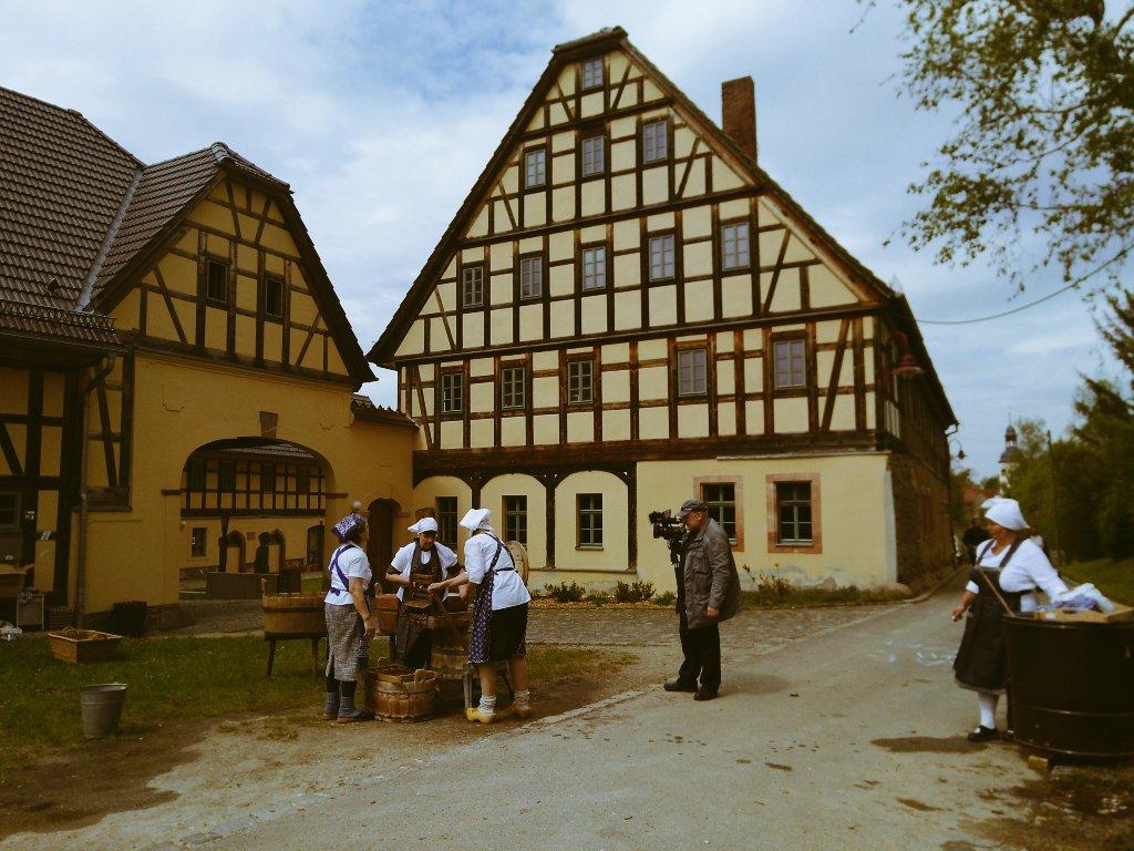 Zum Quellenhof Garbisdorf gehört ein rekonstruierter Bauerngarten.
