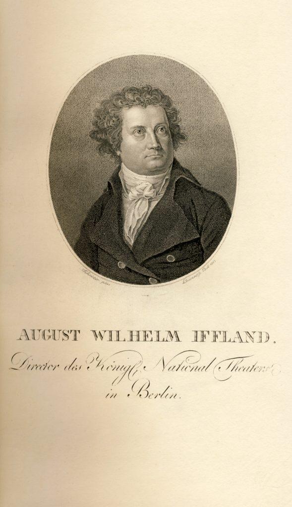 August Wilhelm Iffland, Punktierstich von Laurens,1803, Sammlung Lindenau-Museum Altenburg